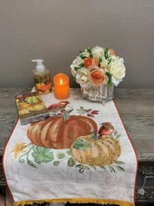 fall with pump tablecloth